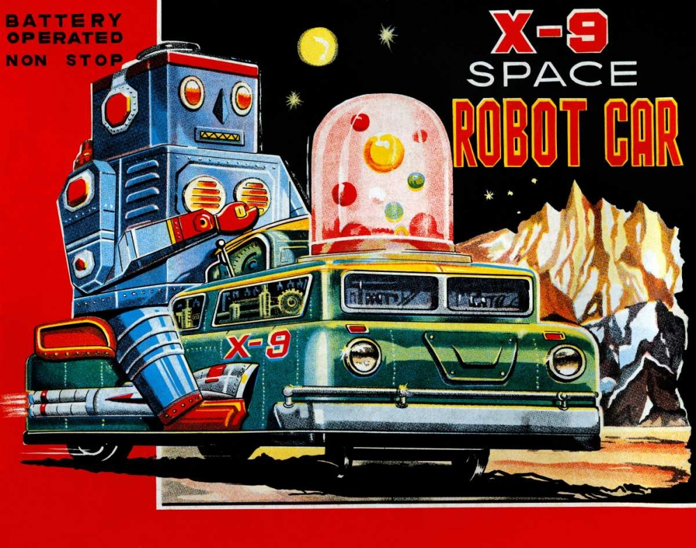 X-9 Space Robot Car Retrobot 96465