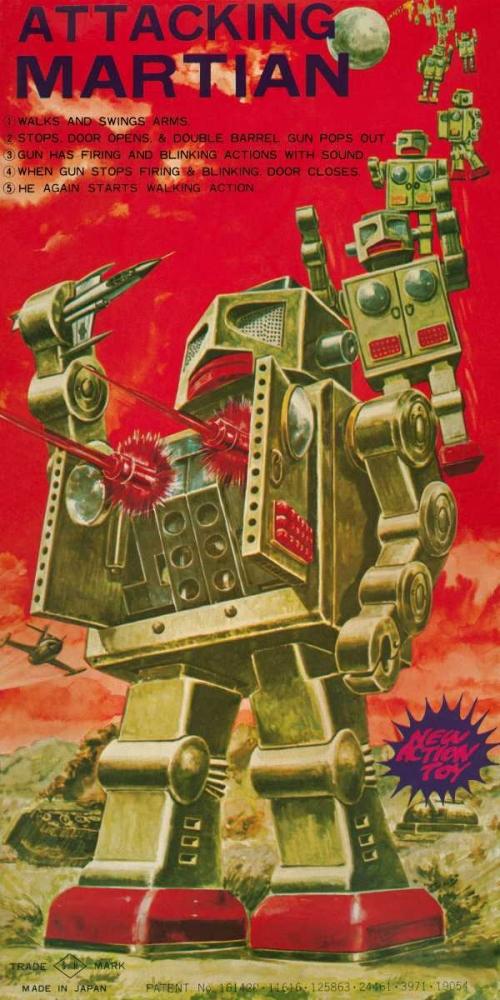 Attacking Martian Retrobot 96479