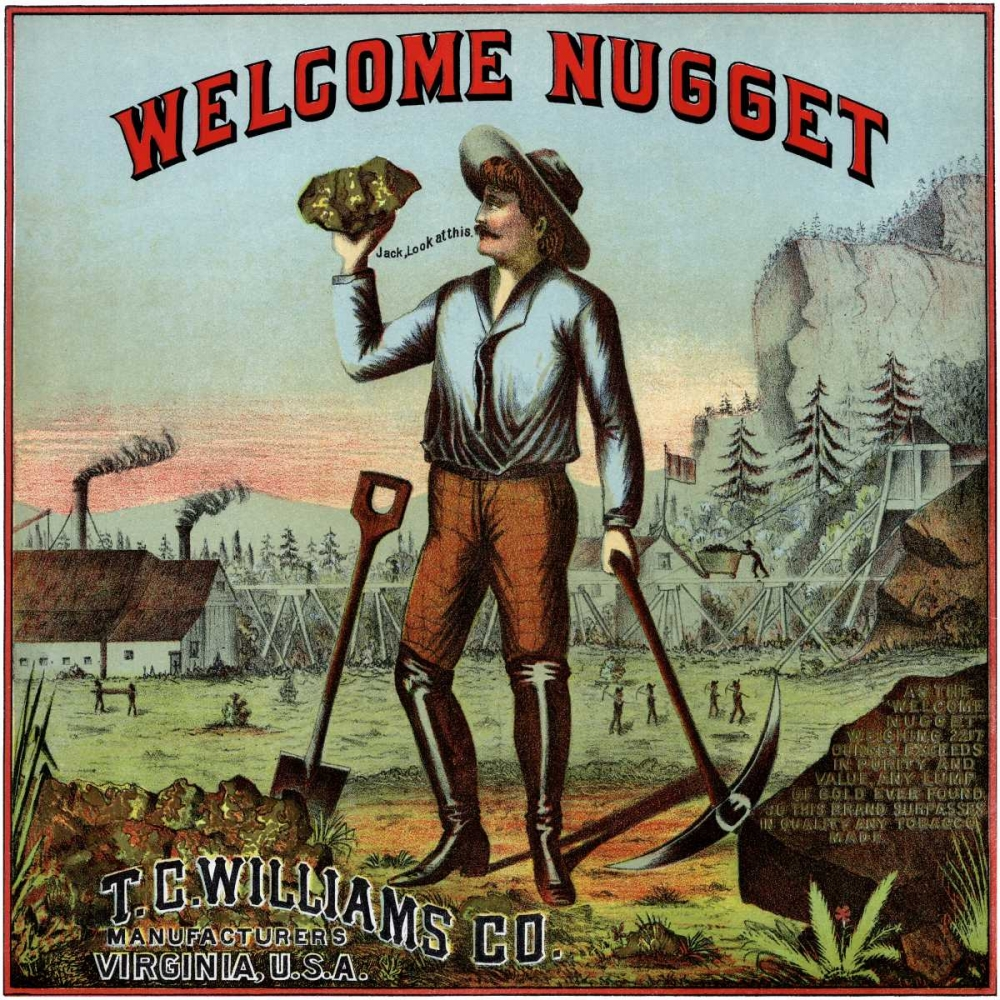 Welcome Nugget Tobacco Label Unknown 96680