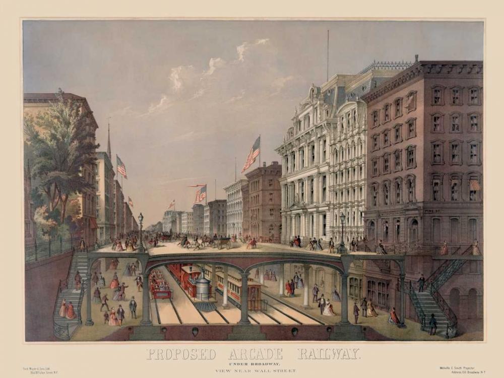 Elevated Railway Near Wall Street Unknown 96684