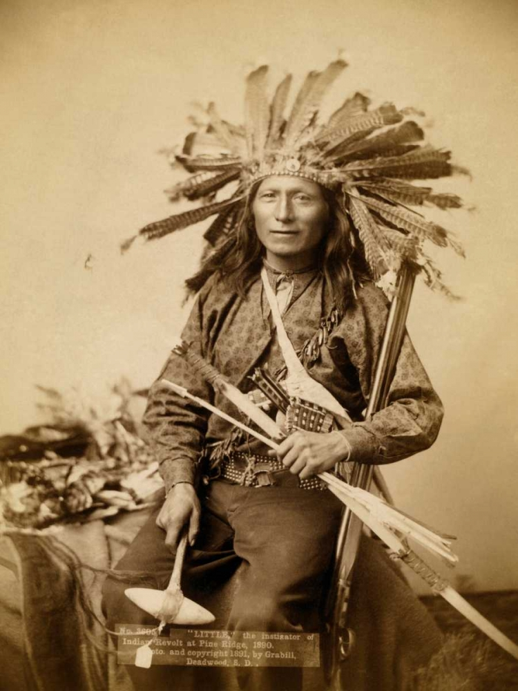 Little, the instigator of Indian Revolt at Pine Ridge, 1890 I Grabill, John C.H. 96311