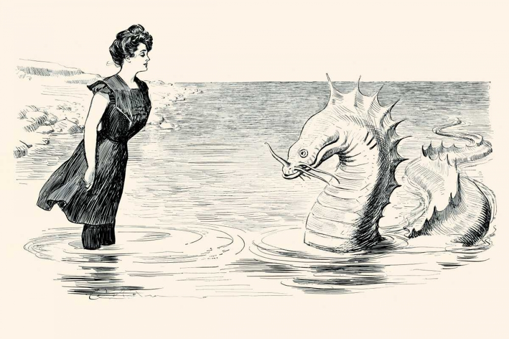 No Wonder The Sea Serpent Frequents our Coast Gibson, Charles Dana 96054