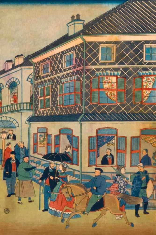 Foreign business district in Yokohama #1 Hiroshige, Utagawa 96776