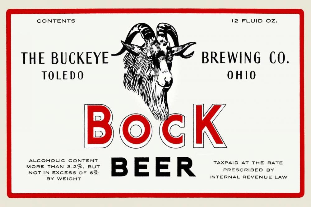 Bock Beer Vintage Booze Labels 96790
