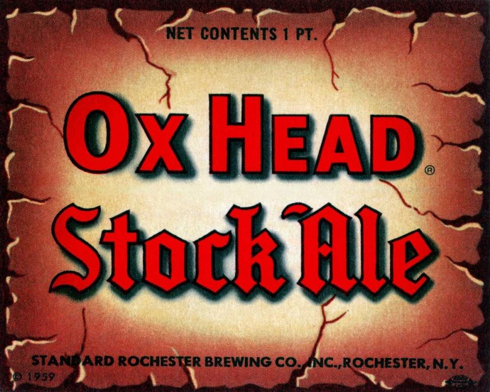 Ox Head Stock Ale Vintage Booze Labels 96800
