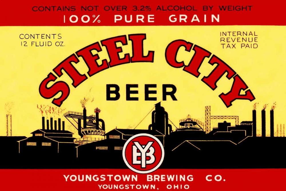 Steel City Beer Vintage Booze Labels 96802