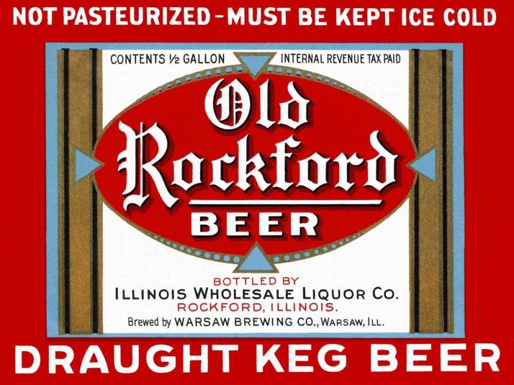 Old Rockford Beer Vintage Booze Labels 96806