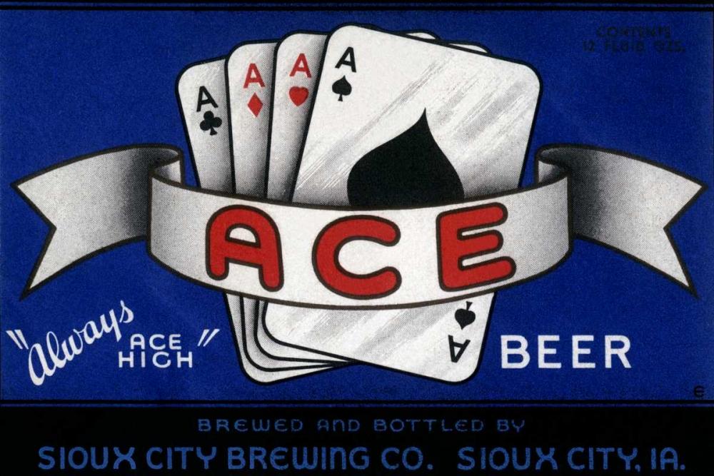 Ace Beer Vintage Booze Labels 96808