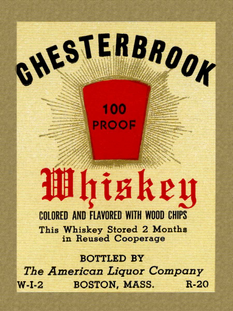 Chesterbrook Whiskey Vintage Booze Labels 96818