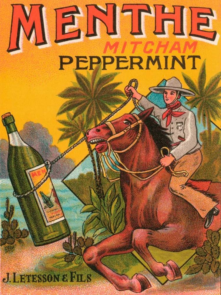 Menthe Peppermint Vintage Booze Labels 96831