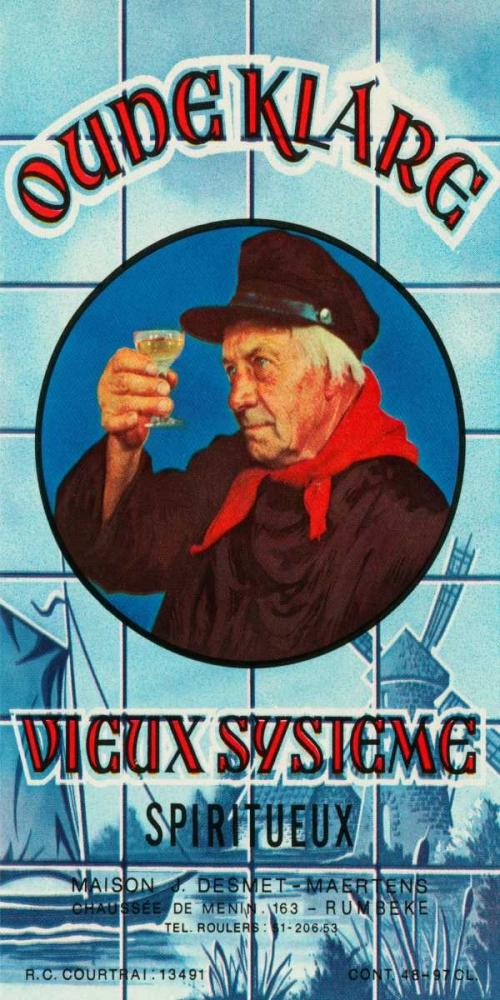 Oudeklare Vieux Systeme Spiritueux Vintage Booze Labels 96834