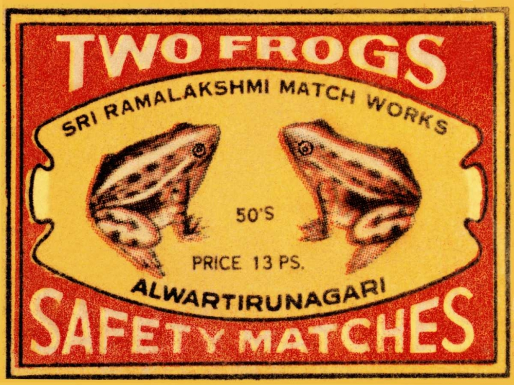 Two Frogs Safety Matches Phillumenart 96416