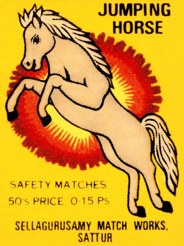 Jumping Horse Safety Matches Phillumenart 96422