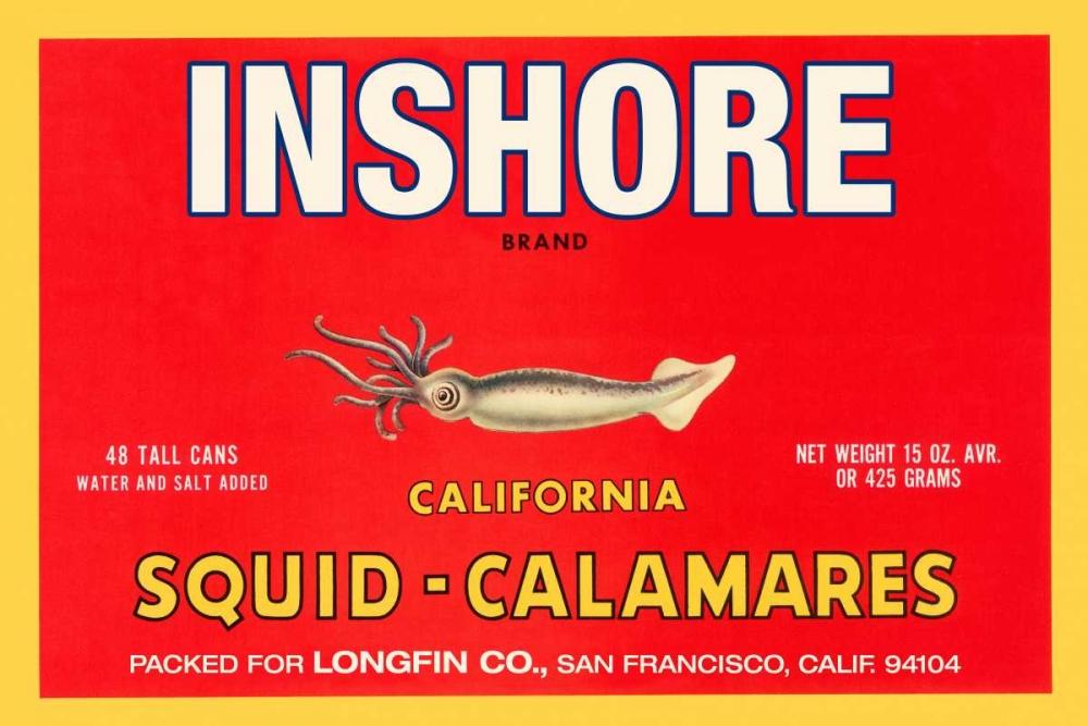 Inshore Brand Squid - Calamares Retrolabel 96508