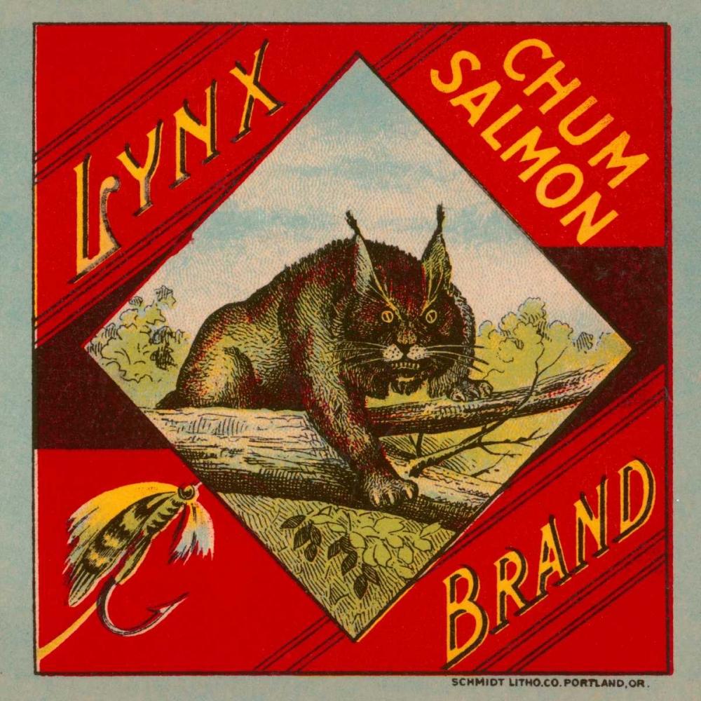 Lynx Brand Chum Salmon Retrolabel 96511