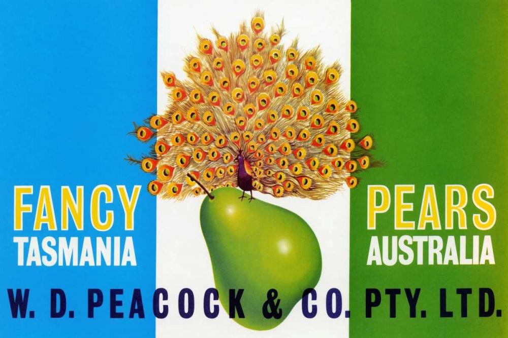 Peacock Pears Retrolabel 96516