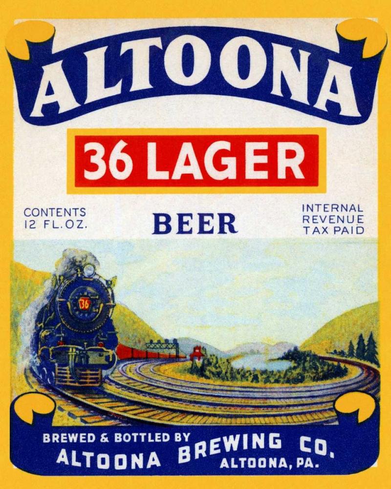 Altoona 36 Lager Beer Vintage Booze Labels 96839
