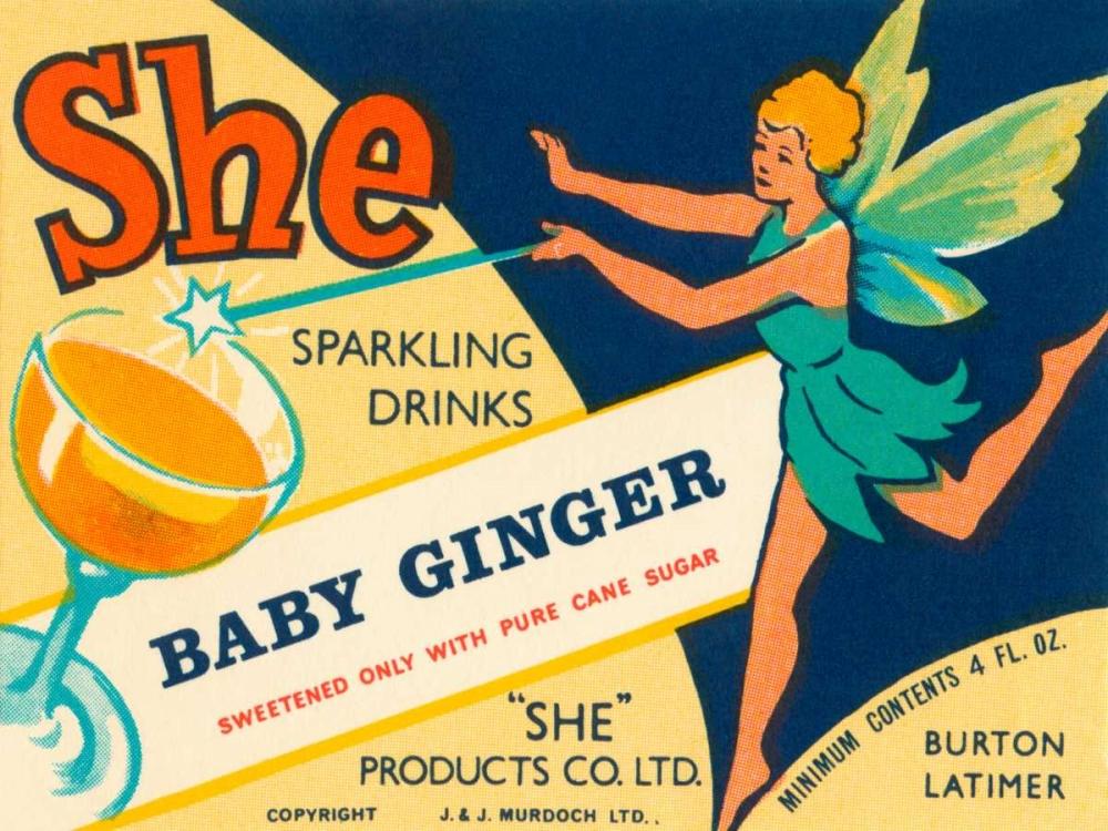 Baby Ginger Vintage Booze Labels 96853