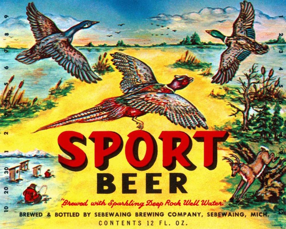 Sport Beer Vintage Booze Labels 96856
