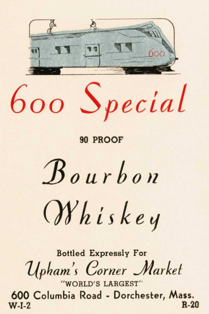 600 Special Bourbon Whiskey Vintage Booze Labels 96864
