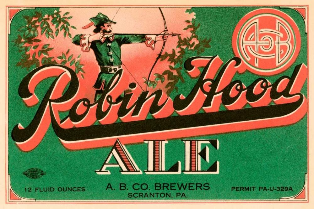 Robin Hood Ale Vintage Booze Labels 96870