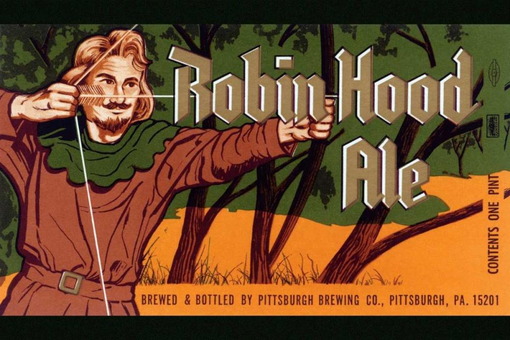 Robin Hood Ale Vintage Booze Labels 96871