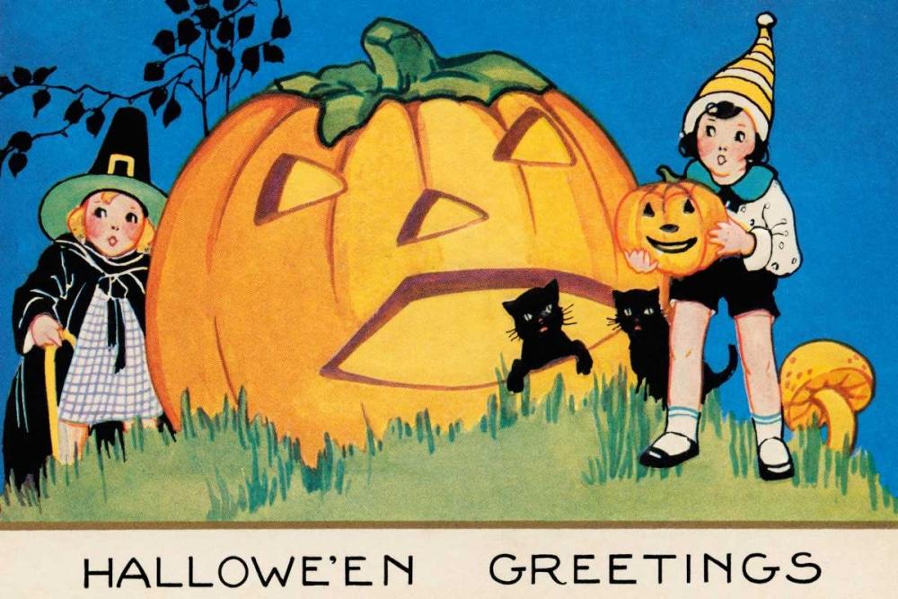 Hallowe en Greetings Halloween 96229
