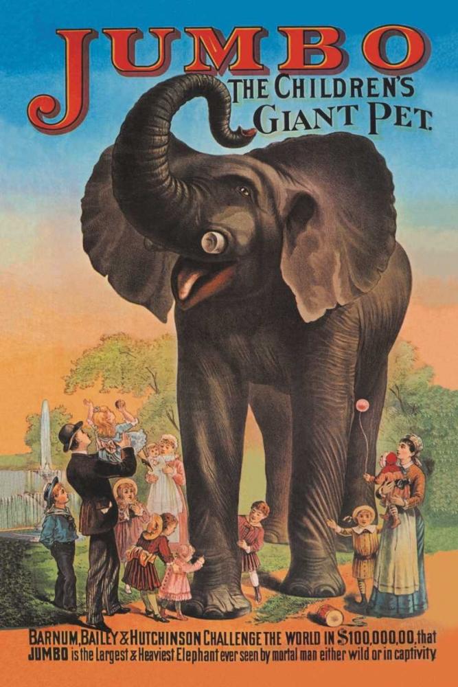 Jumbo - The Childrens Giant Pet Vintage Elephant 96881