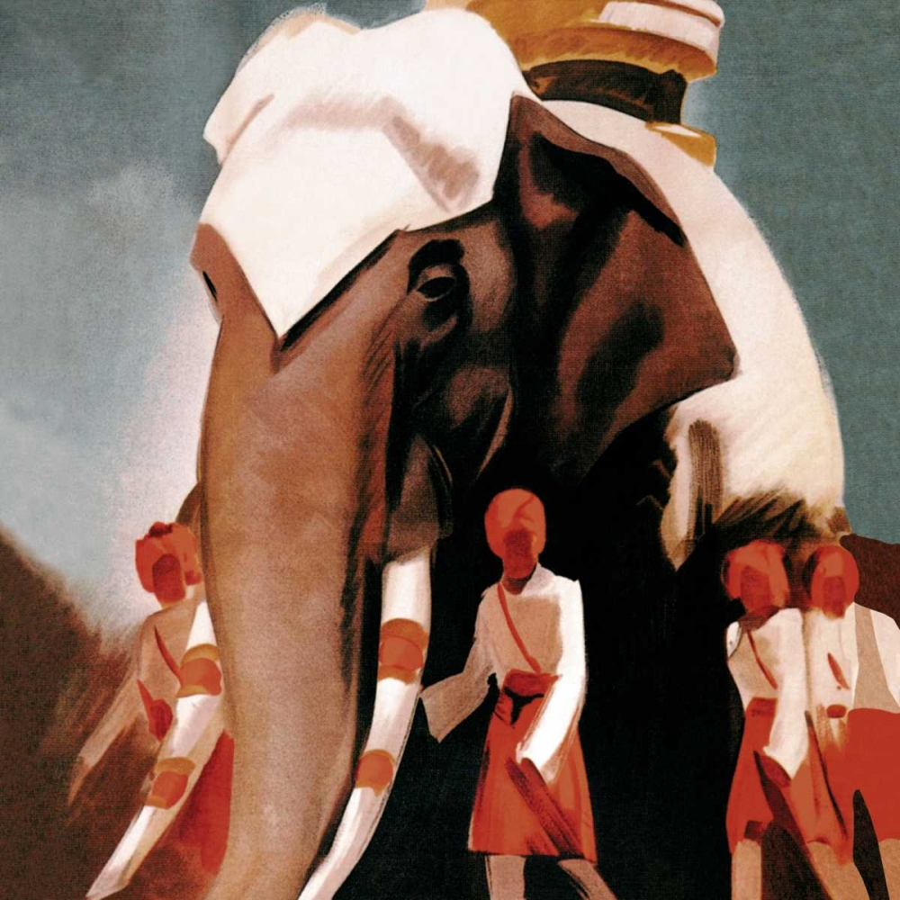 Lloyd Triestino Espresso Itali India Vintage Elephant 96889