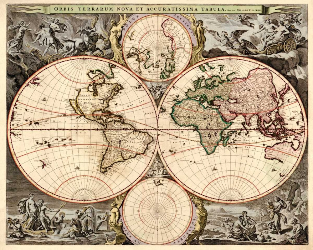 World Map Visscher, Nicolao 96348