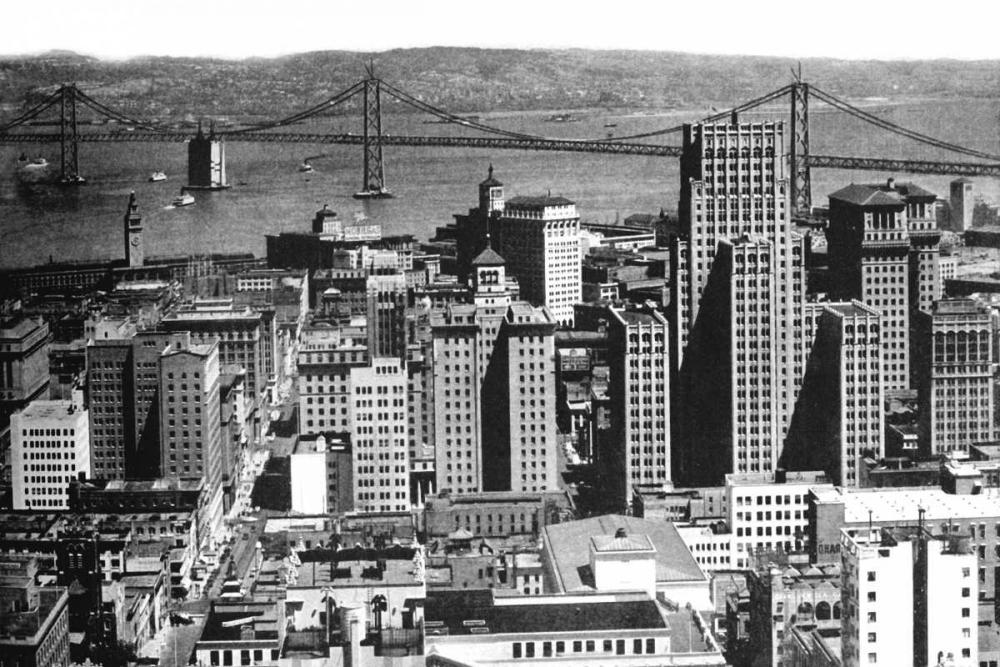 Oakland Bay Bridge, San Francisco, CA #1 Vintage San Francisco 97076