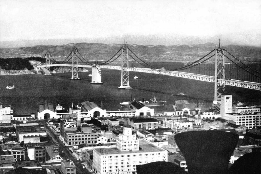 Oakland Bay Bridge, San Francisco, CA #2 Vintage San Francisco 97077