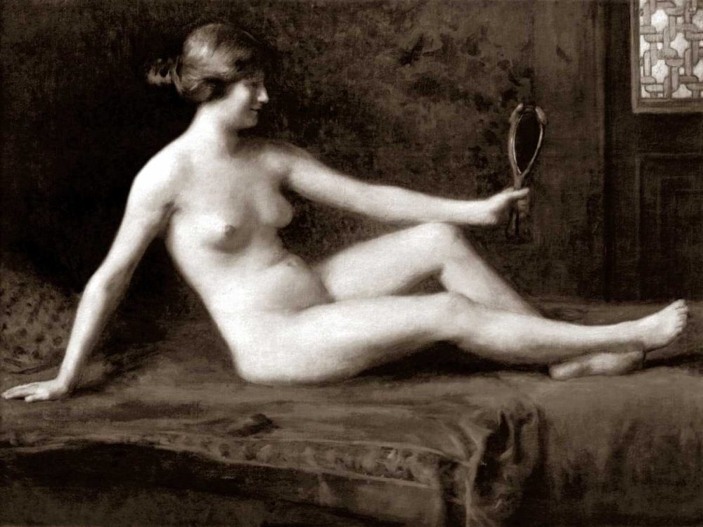 Admiring Herself Vintage Nudes 97028