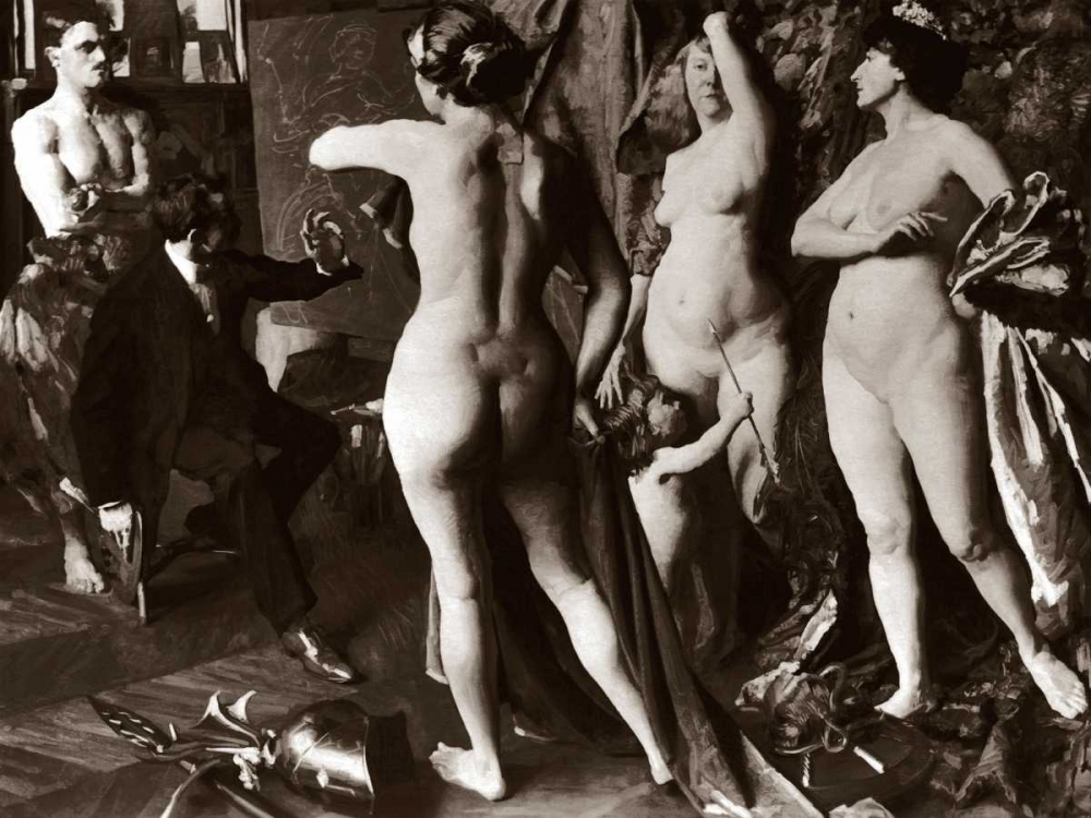 In the Painters Studio Vintage Nudes 97041