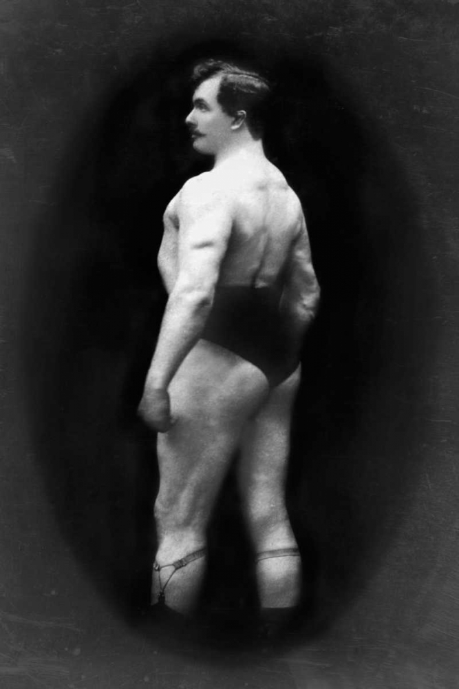 Bodybuilders Back and Partial Left Profile Vintage Muscle Men 96966