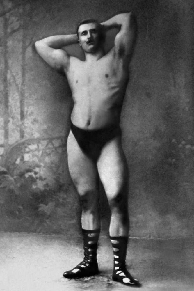Hands Behind Head Flex Vintage Muscle Men 96967