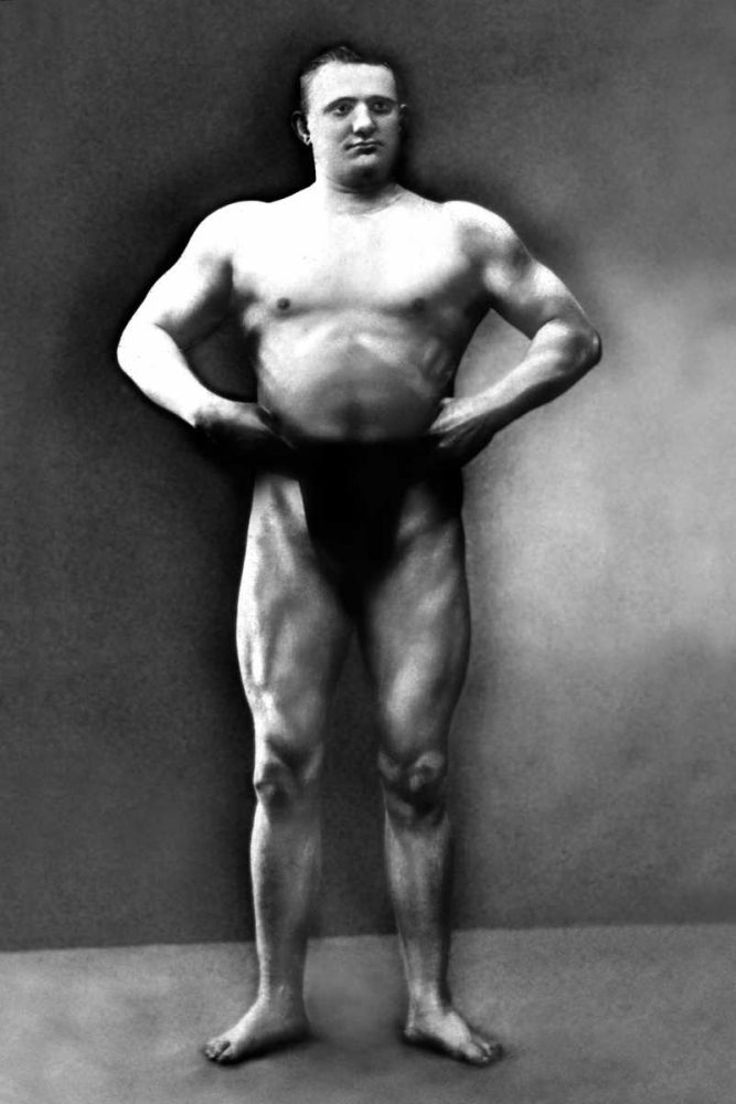 Strongman Pose Vintage Muscle Men 96990