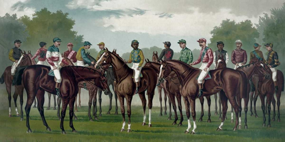 Celebrated winning horses and jockeys of the American turf Currier and Ives 96062