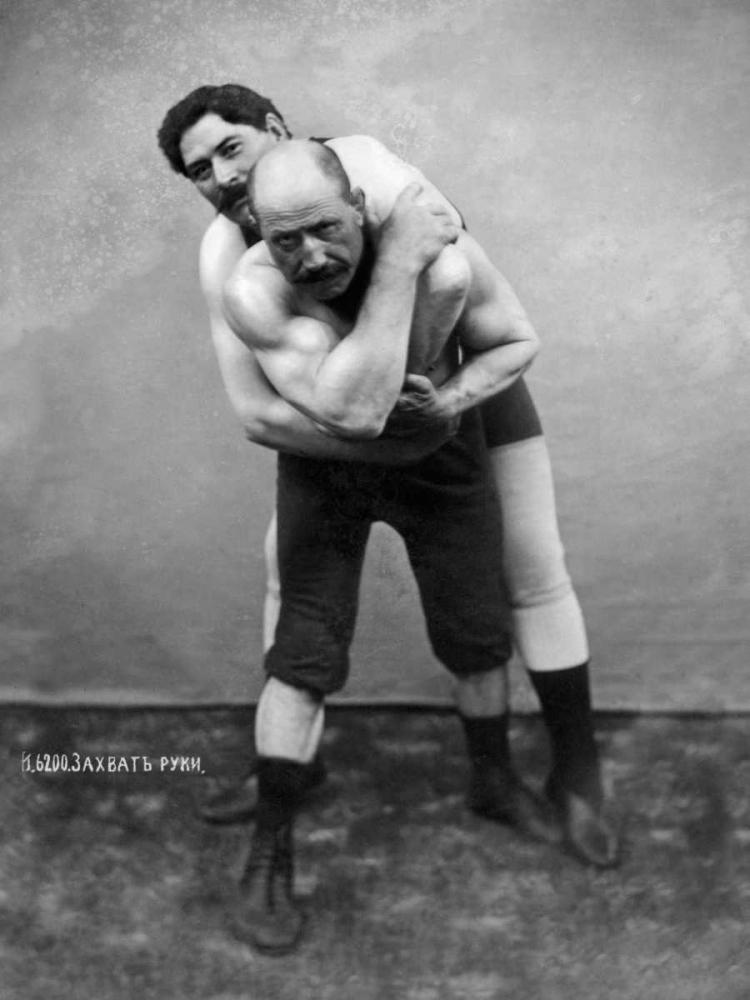Wrestling Hold from Behind Vintage Wrestler 97137
