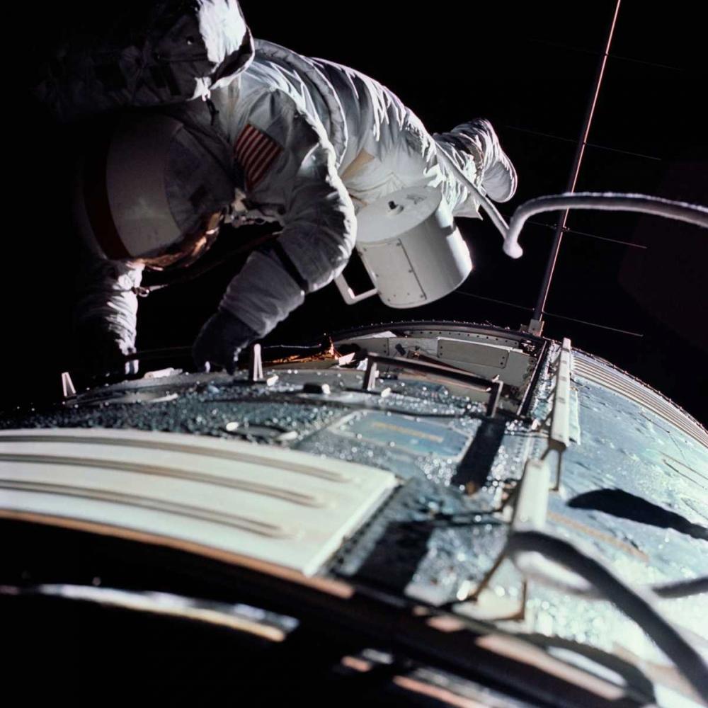 Extra Vehicular Activity, Apollo 17, 1972 NASA 93046
