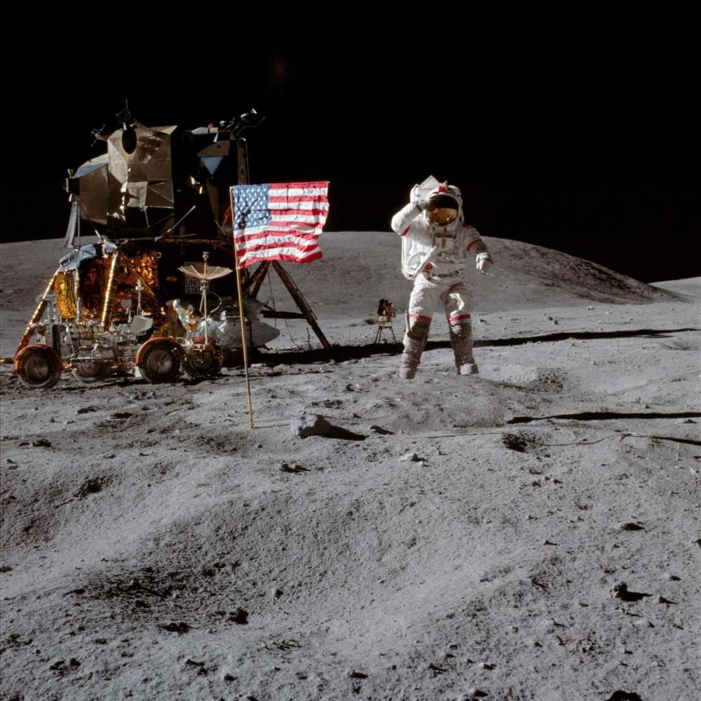Moonwalk, Apollo 16, 1972 NASA 93047