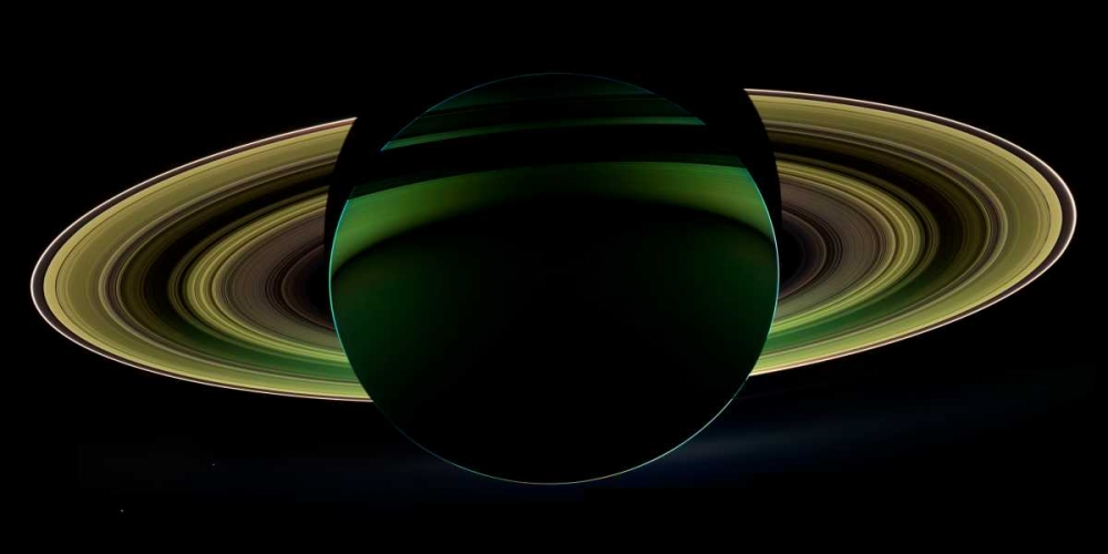 The dark side of Saturn viewed from Cassini, December 18, 2012 NASA 93051