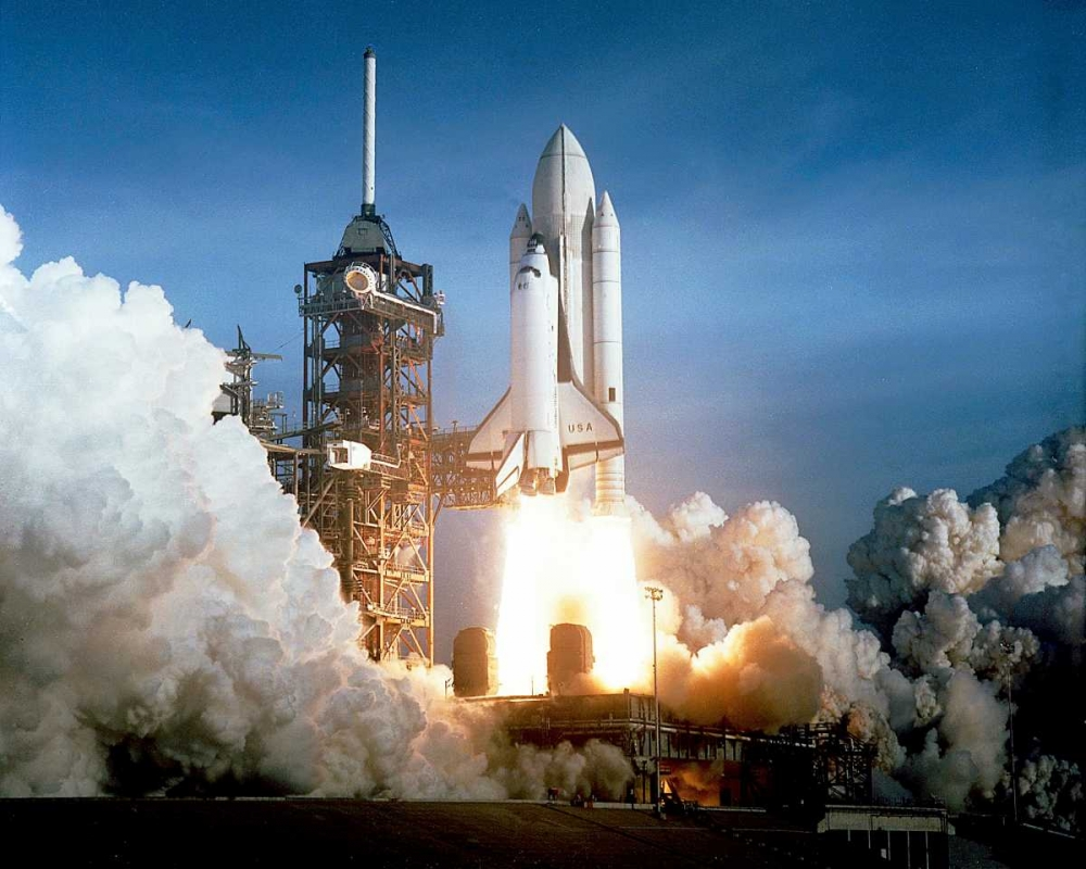 Launch of the First Flight of Space Shuttle Columbia, 1981 NASA 93054