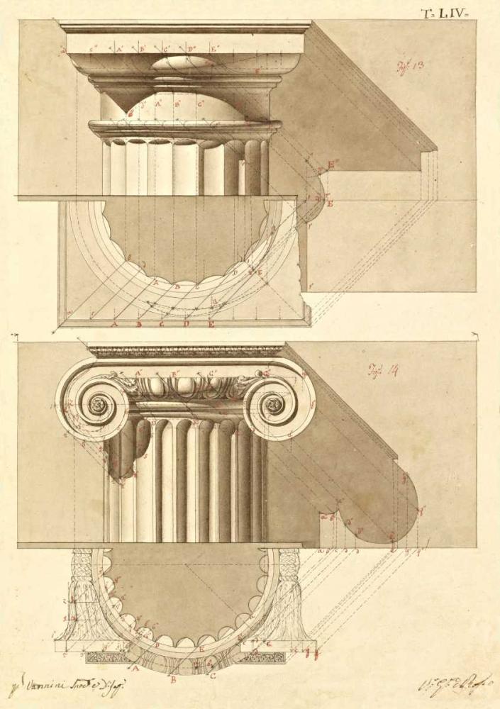 Plate 54 for Elements of Civil Architecture, ca. 1818-1850 Vannini, Giuseppe 93111