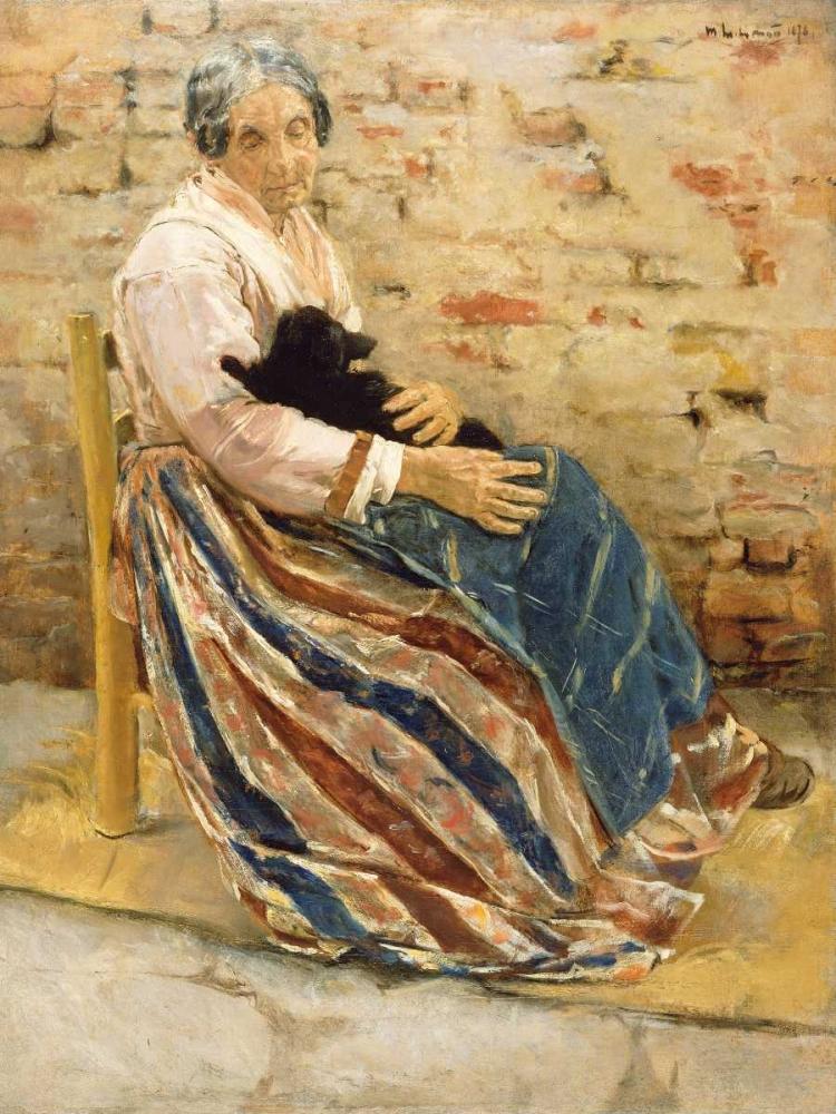 An Old Woman with Cat Liebermann, Max 93122