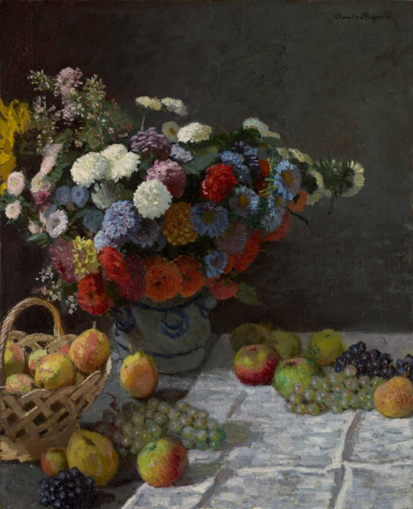 Still Life with Flowers and Fruit Monet, Claude 93129