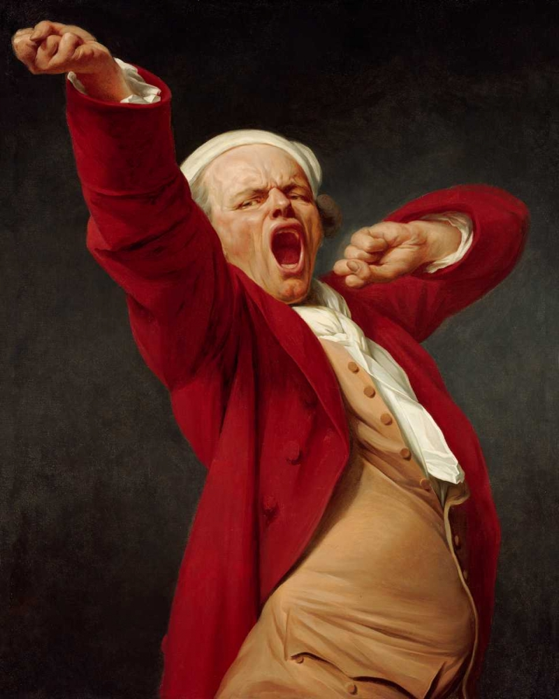 Self-Portrait, Yawning Ducreux, Joseph 93132