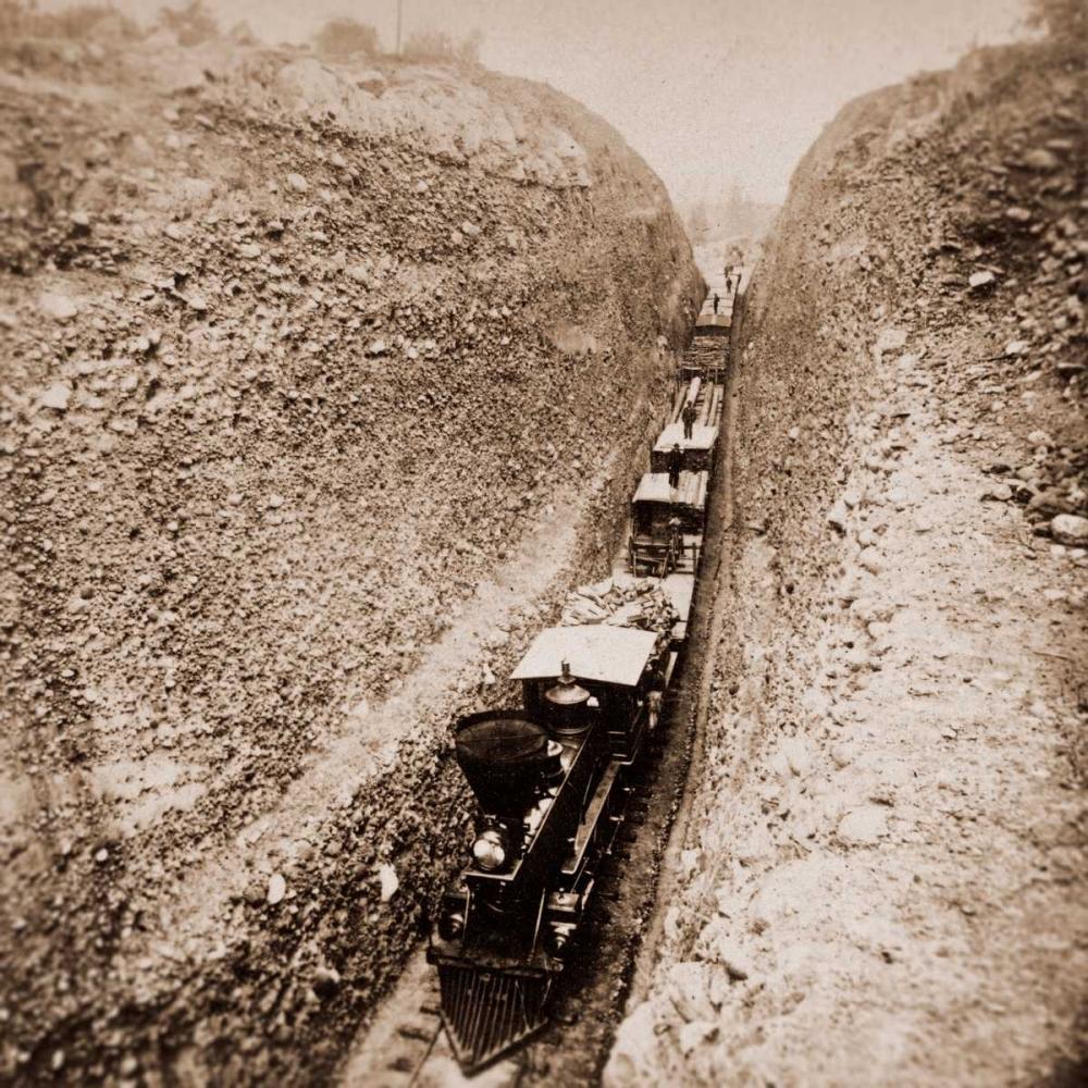 Bloomer Cut near Auburn, California, 800 feet long and 63 feet high, 1866-1869 Hart, Alfred A. 93155