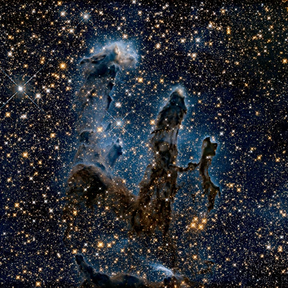 A Near-Infrared View of the Pillars of Creation NASA 93190