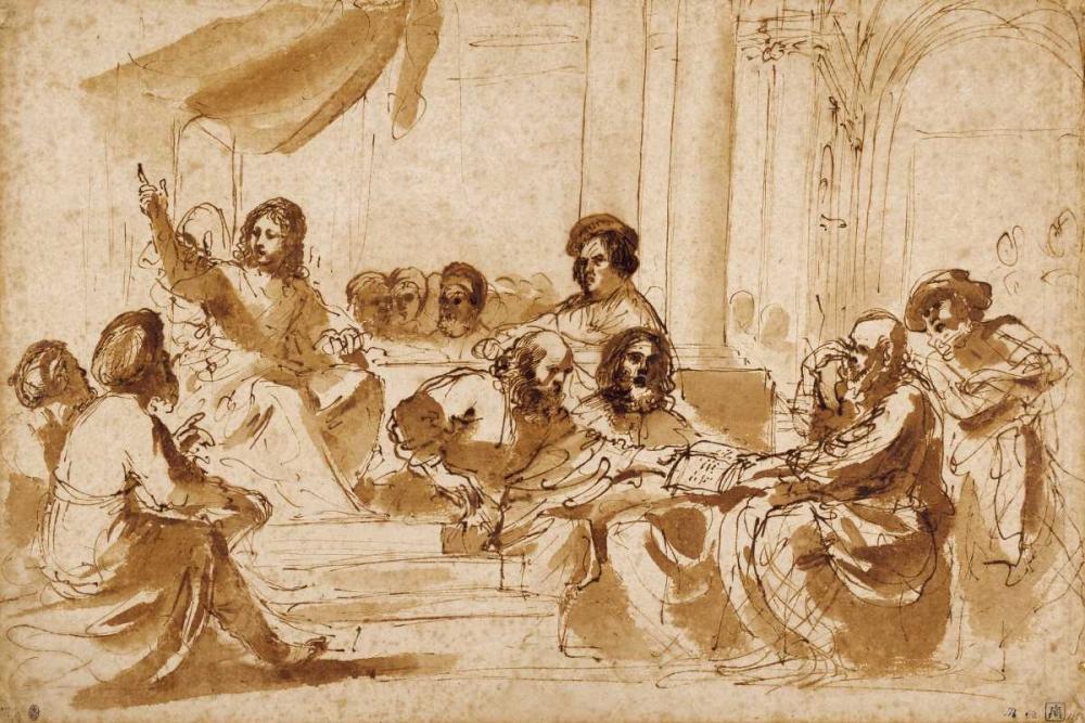 Christ Preaching in the Temple Barbieri, Giovanni Francesco 93195